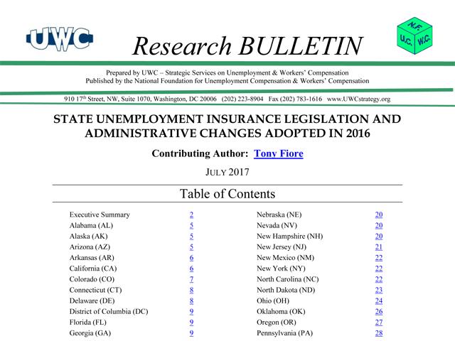 2017 UI Wrap Up Research Bulletin